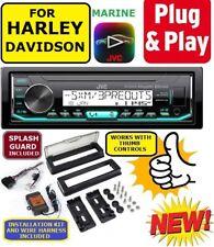 FOR HARLEY PLUG AND PLAY MARINE JVC BLUETOOTH USB AUX RADIO W/ THUMB CONTROLS