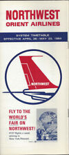 Northwest Orient Airlines system timetable 4/26/64 [0098]