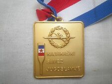 Kayaking KAYAK CHAMPIONSHIP medal award Canoe Federation of Yugoslavia canoeing