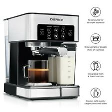 Chefman Barista Pro 6-in-1 Espresso Machine, 1.8 Liters, Milk Frother, NEW