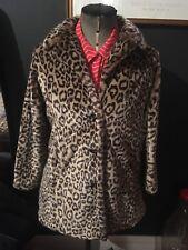 Vintage Faux Fur Leopard Print Coat U.K. 10 Excellent Condition
