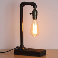 LIANTRAL Vintage Table Lamp, Retro Industrial Loft Style Steam Punk Lamp with