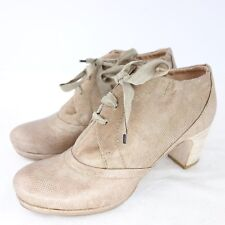 HOMERS Damen Stiefeletten Schuhe Ankle Gr 41 Beige Reptil Optik Leder NP 279 NEU