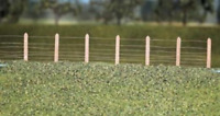 Ratio 423 GWR Lineside Fencing, (36 posts with wire) OO Gauge