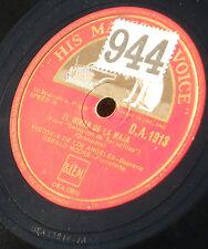 "Victoria de Los Angeles  Gerald Moore 78 trs RPM 25 cm 10"" HMV DA 1913 EX+"