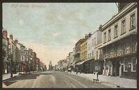 Hampshire. Lymington. High Street, Lymington - Early Printed Postcard