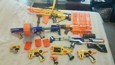 Nerf guns Bundle including 9 guns and magazines in good condition