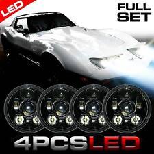 LED Headlight Headlamp Upgrade for Chevy Corvette C1 C2 1963-1982 (4 Pack)