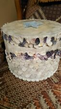 Vintage Capiz Shell & Sea Shell Covered Larger Box Handcrafted in Philippines