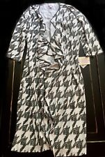 NOIR & BLANC NWT Lularoe M HOUNDSTOOTH Shirley Kimono WRAP Black White FREE SHIP
