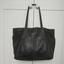 Tod's black leather large handbag shoulder bag shopper tote