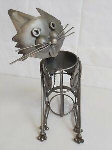 Novelty Stainless Steel Cat Wine Bottle Holder D32