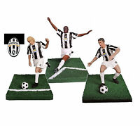 PLAYWELL STARS OF SPORT FOOTBALL JUVENTUS ZAMBROTTA + THURAM + NEDVED FIGURE NEW