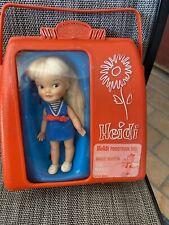 Vintage Doll REMCO HEIDI Doll  Red Pocketbook Plastic 1960's