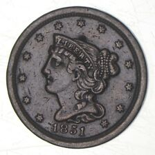 1851 Braided Hair Half Cent - Charles Coin Collection *350