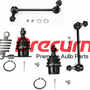 4Pcs Front Lower Ball Joints  Sway Bar Links For  300 Dodge Charger Magnum RWD