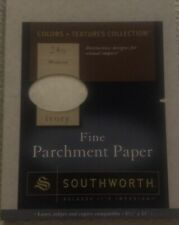 Southworth Fine Parchment Paper, 8.5in x 11in 24 lb. Ivory 80 Sheets