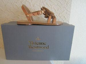Vivienne Westwood Floral Detail Leather Sandals size 36