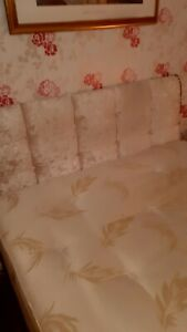 Double divan bed with mattress used