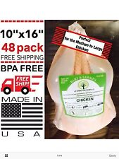 "POULTRY SHRINK BAGS 10"" X 16"" CHICKEN FOOD PROCESSING FREEZER SAVER HEAT"