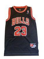 Men Chicago Bulls Michael Jordan 23 MJ Black Nike Jersey Sz Small Stitched GOAT