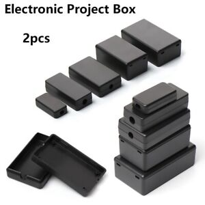 Electronic Project Box Plastic Case Waterproof Enclosure Diy Cover Tool 2PCsn