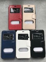Coque Huawei HONOR 6A  Etui Portefeuille Cuir Double fenêtres Housse coque