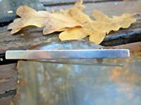 alte schlichte stab brosche 900 silber + meisterpunze 73mm