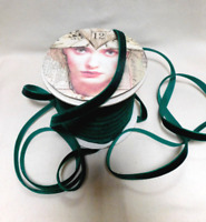 "3 Yards 3/8"" Velvet Ribbon EMERALD GREEN Quality / Finished Edges / NEW"