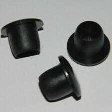 50 Stk. Abdeckstopfen , Blindstopfen für Bohrung  Ø 6mm schwarz Kunststoff