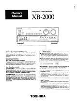 Service Manual-Anleitung für Toshiba XB-2000