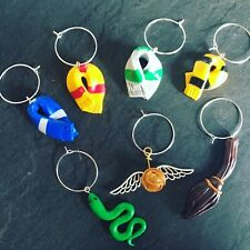 7 x Harry Potter Handmade Fimo Wine Charms