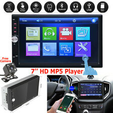 "7"" 2DIN HD Car Stereo Radio MP5 Player Bluetooth AUX Touch Screen & Rear Camera"
