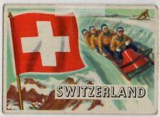Flag Of Switzerland Berne Europe Trade Ad  Card