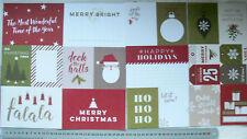 """CHRISTMAS Yuletide PROJECT LIFE inserts - 5 6x4"""" - 12 4x3"""" & 4 3x2 Tags PPaislee"""