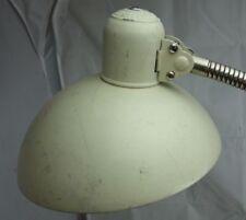 alte  Schwanenhals Tischlampe Klemmlampe Art Deco Kaiser idell weiß