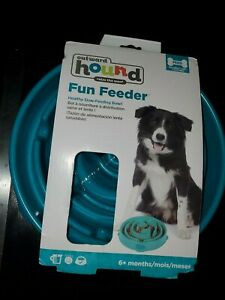 Outward Hound Fun Feeder Slow Feeding Bowl Large prevents canine obesity - Teal