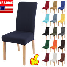Stretch Dining Chair Covers Slipcovers Removable  Banquet Protective Cover Decor