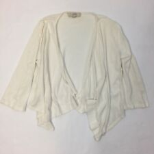 Ann Taylor LOFT Women's Size Small S Cardigan Open Front Sweater White Cream