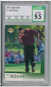 2001 Upper Deck #1 Tiger Woods RC Rookie Card CSG 9.5 Gem Mint BZ621
