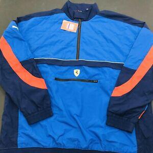 PUMA Scuderia Ferrari Street Woven Jacket Mens XXL  595550-06 Galaxy Blue (460)