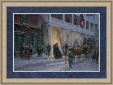 Mort Kunstler Signed  L/ED Print Mrs. Jackson Comes to Winchester Custom Framed