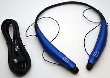 Genuine Lg Tone Pro Hbs-770 Wireless Headphones Blue Neckband Bluetooth Headset