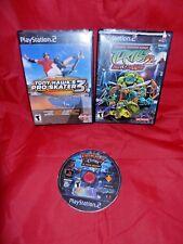 Lot of 3 PS2;Tony Hawk's Pro Skater 3,Teenage Mut. Ninja Turtles 2,Ratchet & Clk