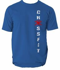 GYM CROSSFIT New Mens T-Shirt Training Sport Workout Top Tshirt WEIGHTLIFTING