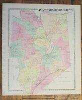 Antique MAP - WATERBOROUGH, MAINE - / Atlas York County, ME - 1872