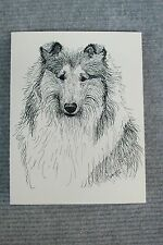 Collie Pen and Ink Stationary Cards, Note Cards, Greeting Cards. Set of 10.