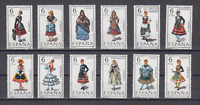 SPAIN (1970) - MNH - SC SCOTT 1428/39 REGIONAL COSTUMES