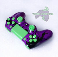 Custom Modified Playstation 4 Dualshock Wireless PS4 Controller - Purple Spatter