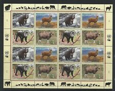 """United Nations, Mnh souvenir sheet of 16 """"World Wildlife"""" issued 2004 see scan"""